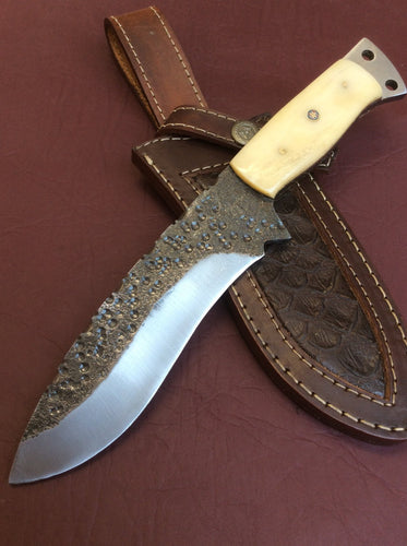 1095 High Carbon Steel Hand Forge Hunter Knife