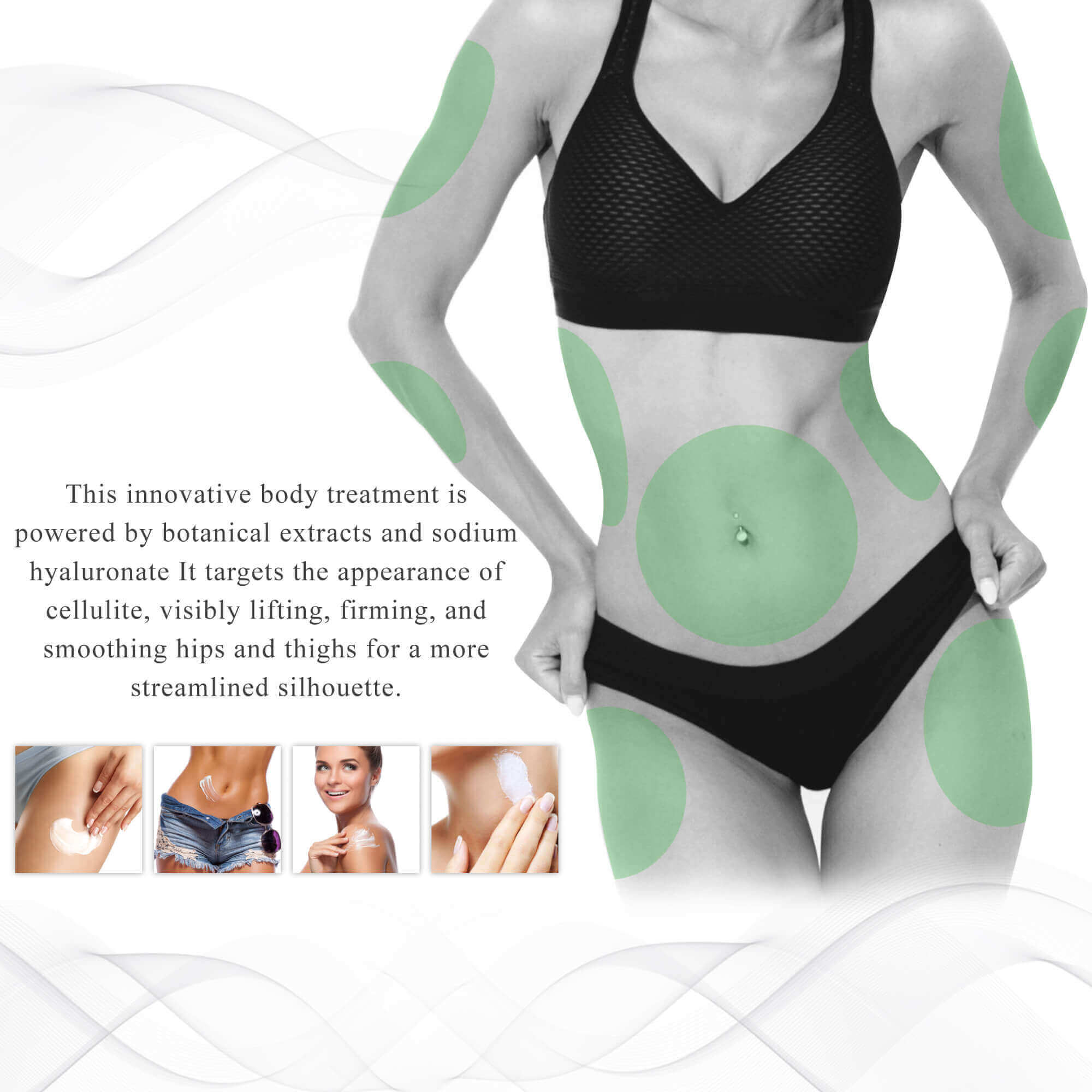 Lipo applicator defining body gel treatment application