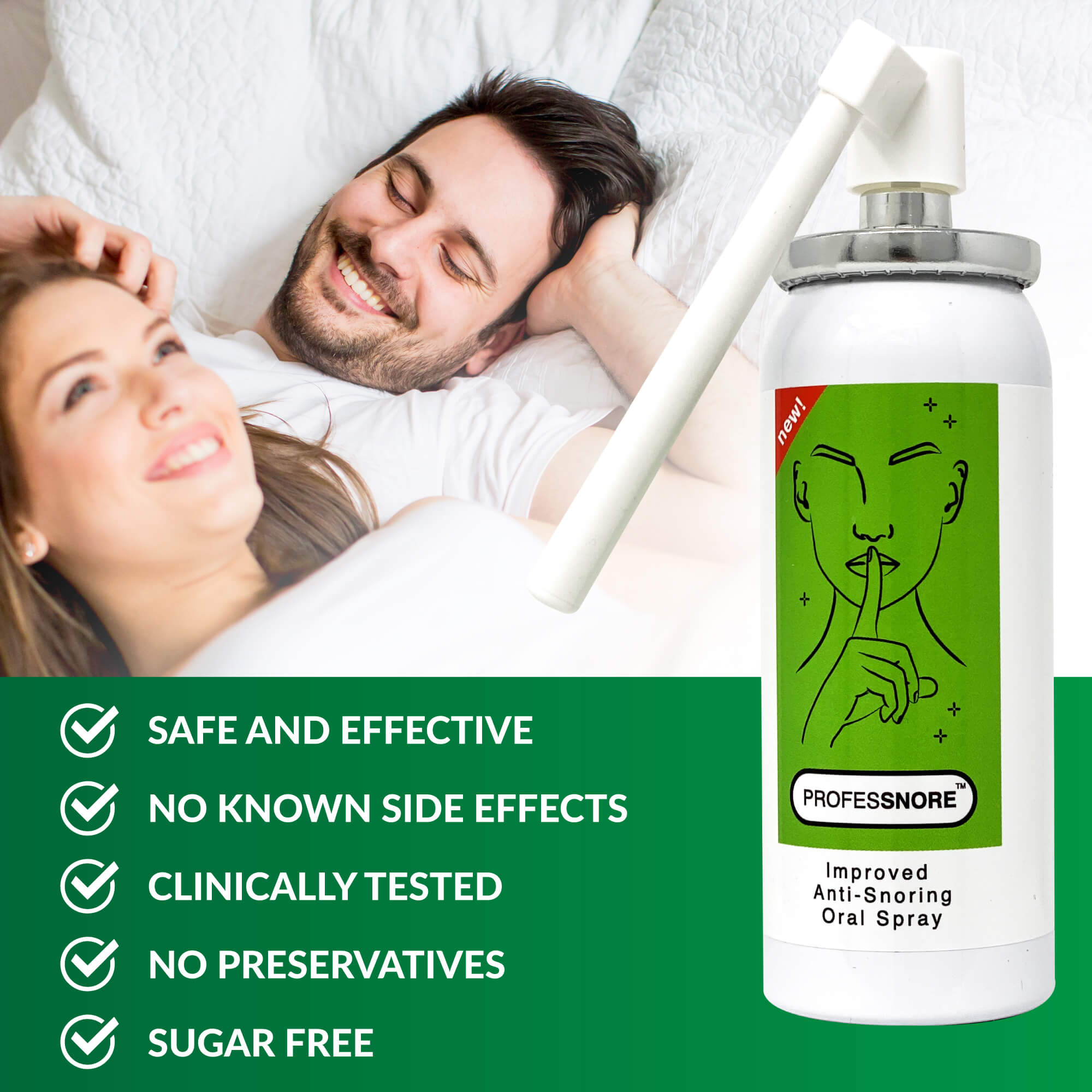 Snore Solutions Anti Snoring Stop Relief Oral Spray ProfesSnore 1.69 Fl oz (50 ml)