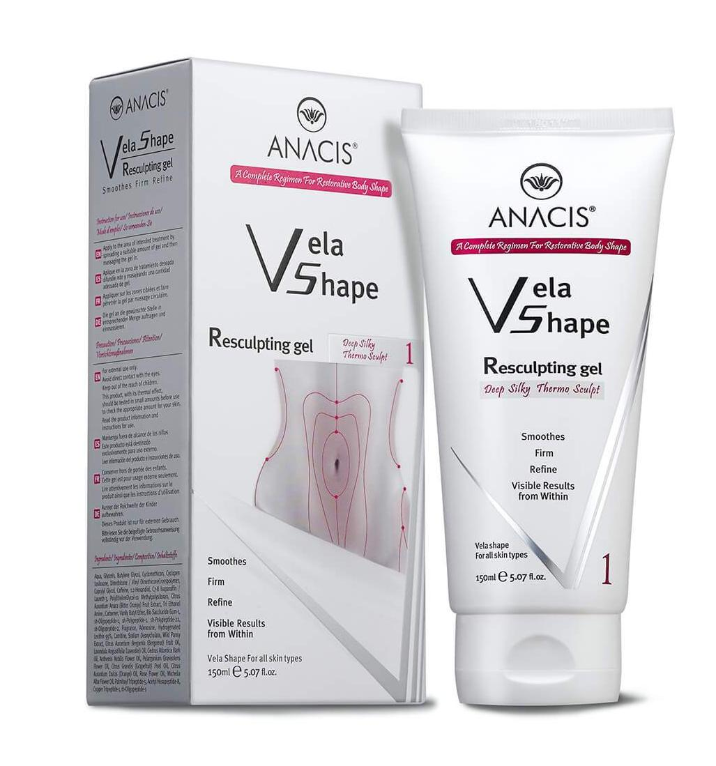 Body Anti Cellulite Cream Firming Resculpting Gel Hot Thermo Treatment Vela Shape  - Medactiveshop