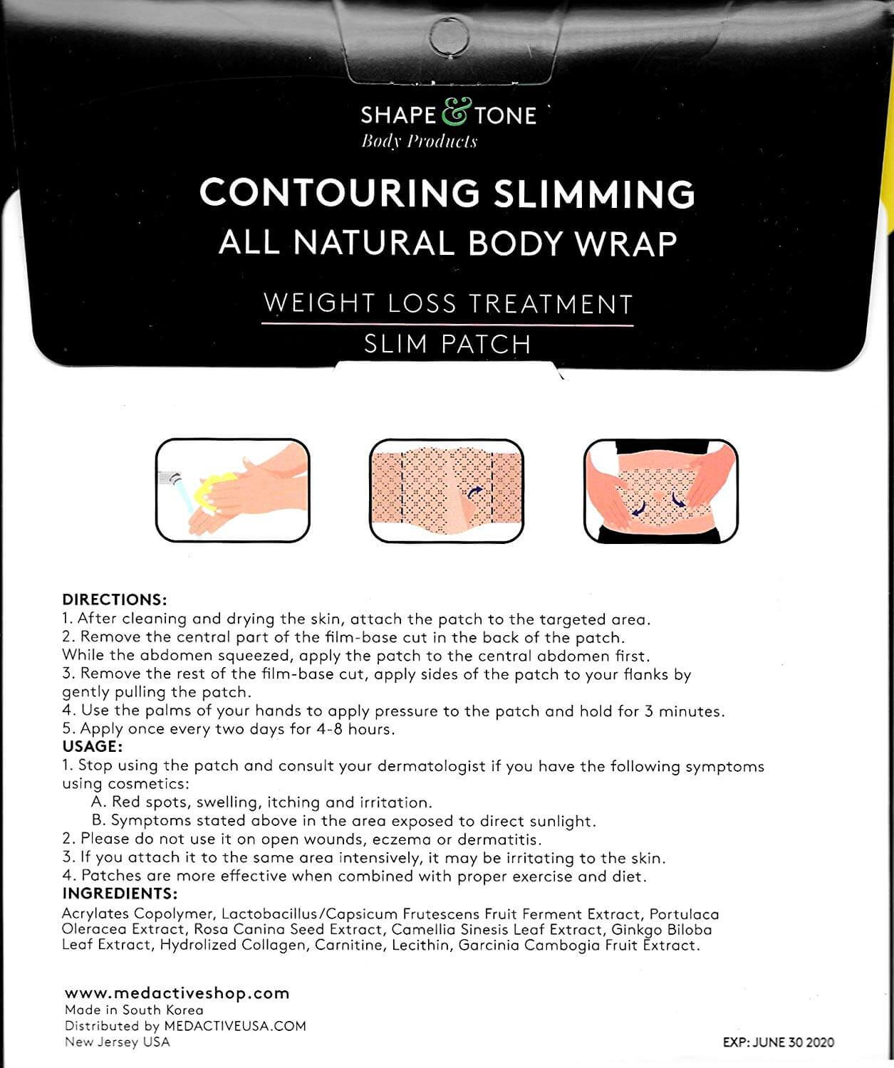 Contouring and slimming body patch natural body patch natural ingredients - Medactiveshop