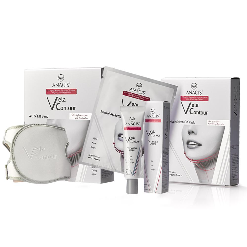 4D V-Lift Strap For Face Slim Neck Shaping Cream and Chin Lift Mask Anacis  - Medactiveshop
