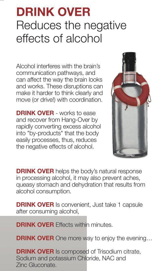 After party over drink recovery pills Helps reduce the negative effects of alcohol - Medactiveshop