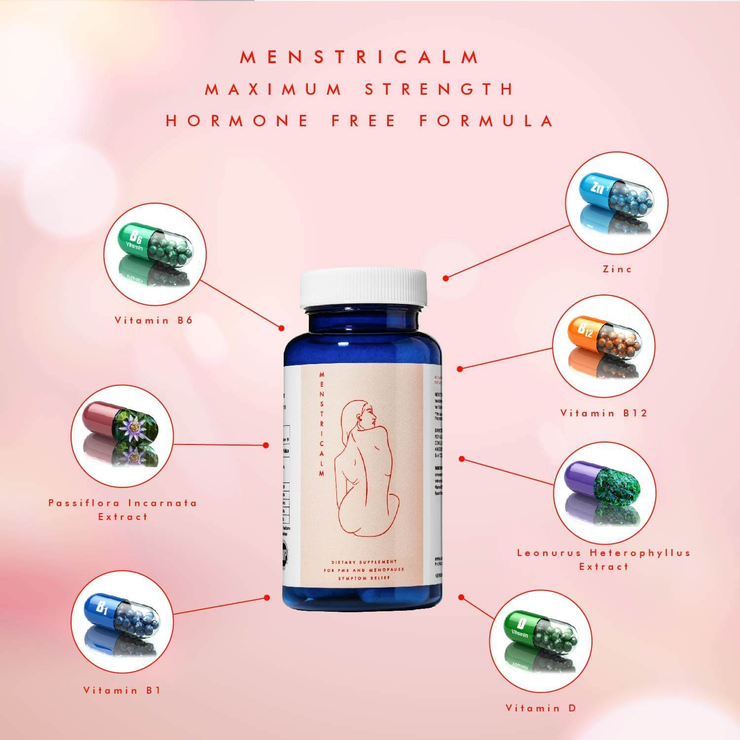 Menstricalm Provides PMS and Post Menstrual Symptoms Relief All- Natural - Medactiveshop