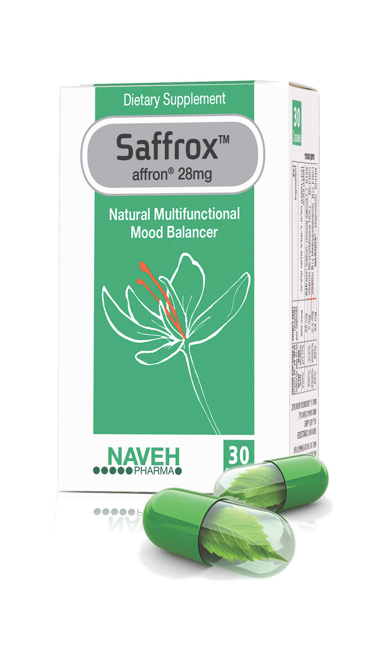Natural Mood Balancer Anxiety Stress Relieve Sleeping Aid. Saffrox. (30 caplets) - Medactiveshop