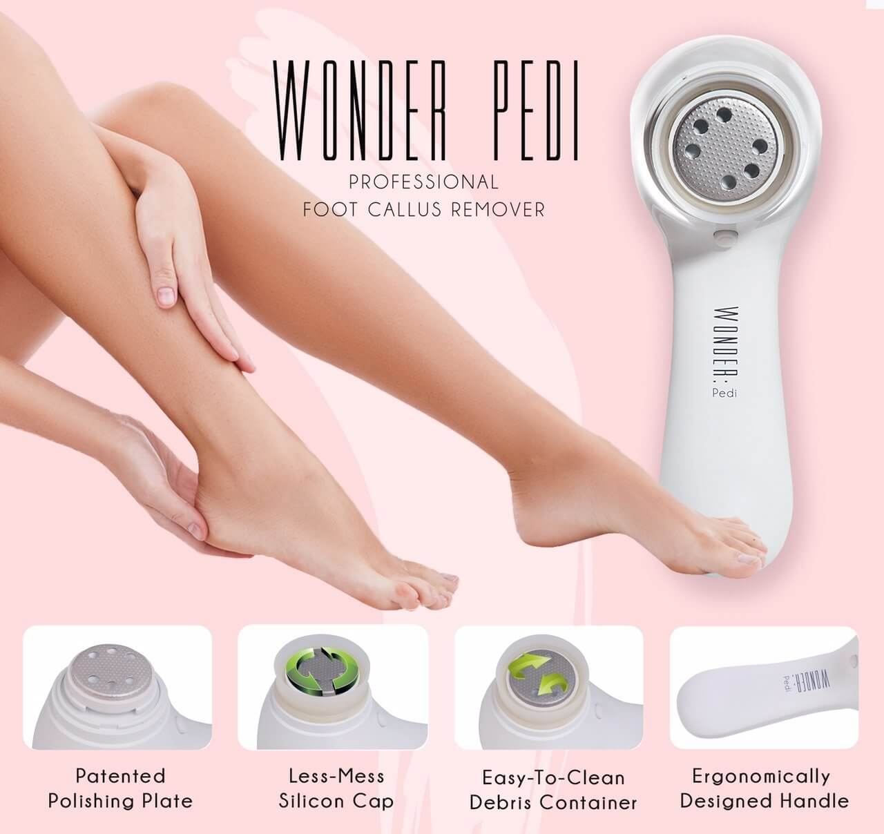 Electric Callus Remover Electronic Foot File to Shave Hard Cracked Dead Skin  - Medactiveshop