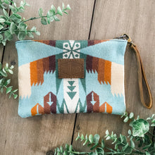 Load image into Gallery viewer, Pendleton Wool Clutch (Tucson Aqua)