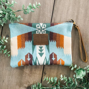 Pendleton Wool Clutch (Tucson Aqua)