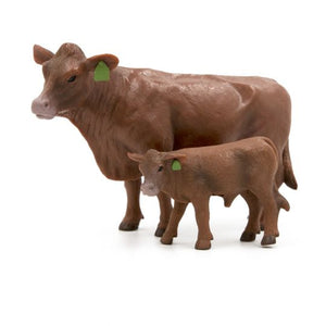 FARM ANIMAL TOY - Red Angus Cow-Calf Pair