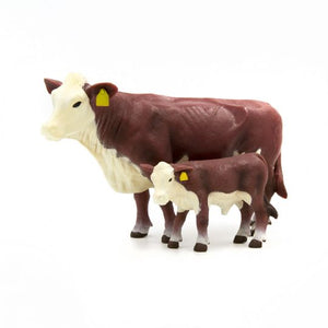 FARM ANIMAL TOY - Hereford Cow-Calf Pair