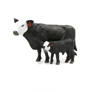 FARM ANIMAL TOY - Black & White Face Cow-Calf Pair