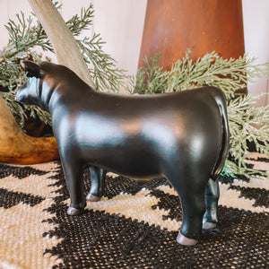 Farm Animal Toy - Black Show Bull