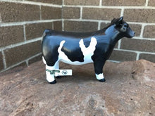 Load image into Gallery viewer, FARM ANIMAL TOY - Champion Show Steer Crossbred Black/White