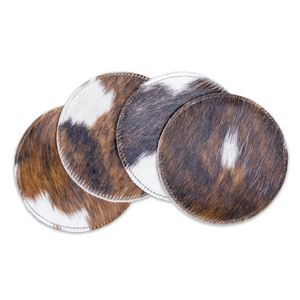 BRAND NEW! Cowhide Coasters