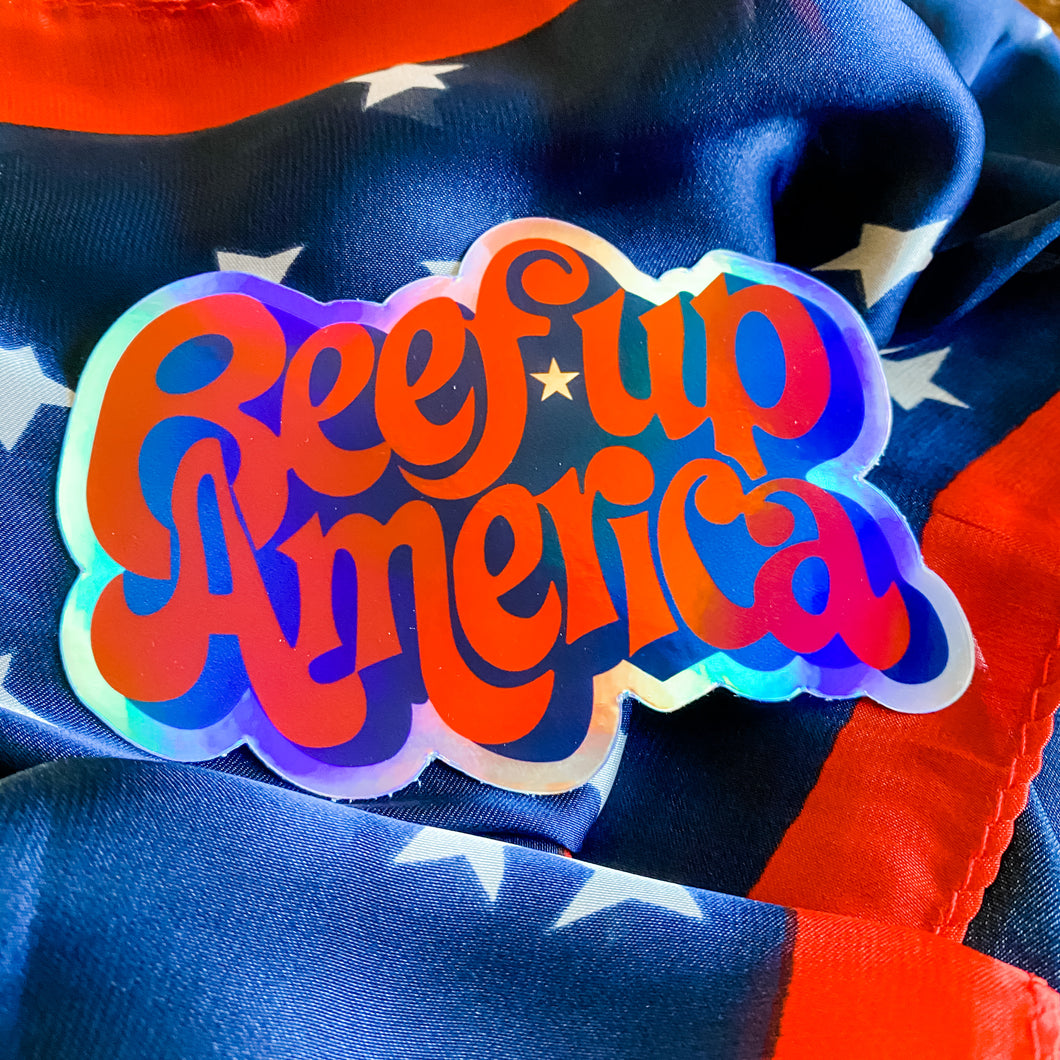 Sticker - Beef Up America