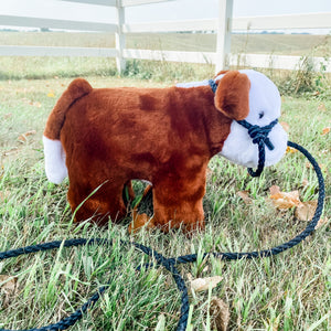 BRAND NEW! Made In The USA Plush Calf