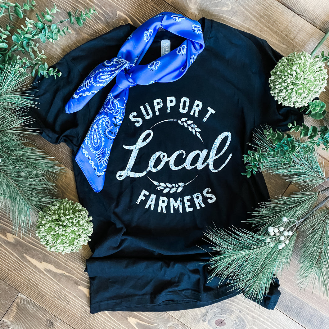 Women's Tee - Support Local Farmers (Black)
