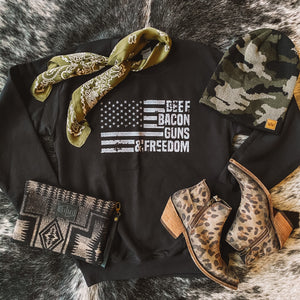 Crew - Beef, Bacon, Guns & Freedom