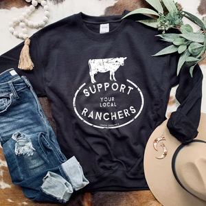 Crew - Support Local Ranchers (Black)
