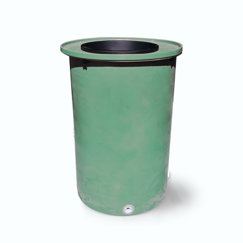 "Agua Fria | Bright Green | 100 Gallon Vertical | 17"" Basket Top"