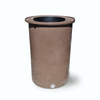 "Cubo | Dark Adobe | 100 Gallon Vertical | 17"" Basket - Tijeras Rain Barrels"