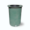 "Cubo | Sherwood Green | 200 Gallon Vertical | 17"" Basket - Tijeras Rain Barrels"