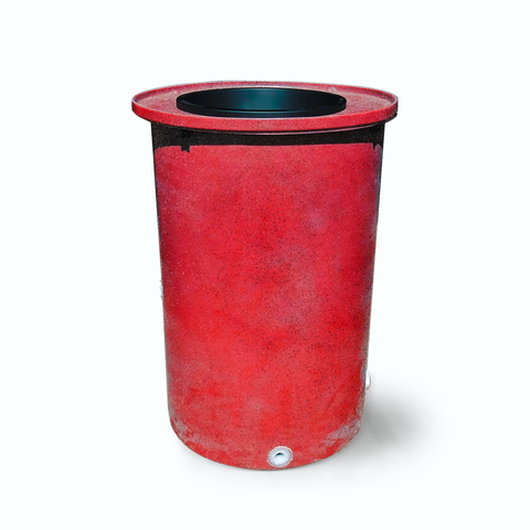 "Agua Fria | Bright Red with Speckle | 100 Gallon Vertical | 17"" Basket Top"