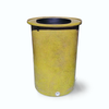 "Cubo | Bright Yellow with Speckle | 100 Gallon Vertical | 17"" Basket - Tijeras Rain Barrels"