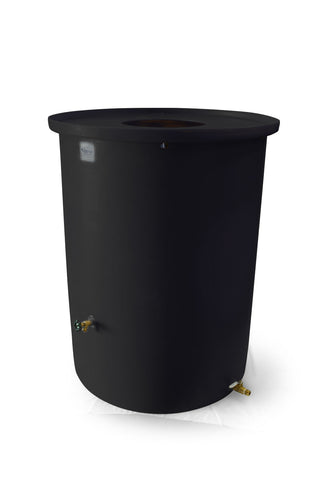 "Agua Fria | Black | 200 Gallon Vertical | 17"" Basket Top"