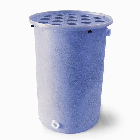 Agua Fria | Bright Blue With Speckle | 200 Gallon Vertical | Canale Flat Top (Polka Dot) - Tijeras Rain Barrels