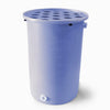 Agua Fria | Bright Blue | 360 Gallon Vertical | Canale Flat Top (Polka Dot) - Tijeras Rain Barrels