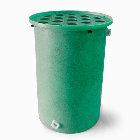 Agua Fria | Bright Green With Speckle | 55 Gallon Vertical | Canale Flat Top (Polka Dot) - Tijeras Rain Barrels