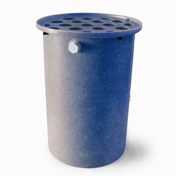 Agua Fria | Blueberry With Speckle | 55 Gallon Vertical | Canale Flat Top (Polka Dot) - Tijeras Rain Barrels