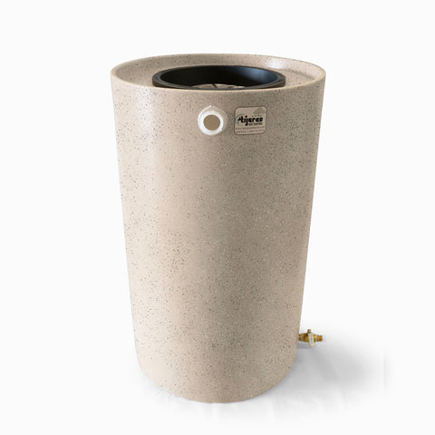 Villa | Tijeras Rain Barrel | Wickertone with Speckle | 100 Gallon Vertical - Tijeras Rain Barrels