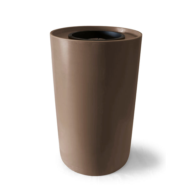 Villa | Tijeras Rain Barrel | Dark Adobe | 100 Gallon Vertical - Tijeras Rain Barrels