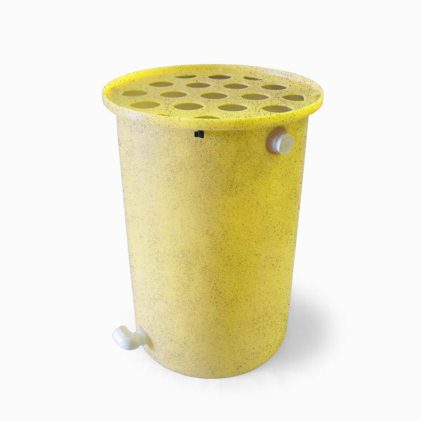 Agua Fria | Bright Yellow With Speckle | 100 Gallon Vertical | Canale Flat Top (Polka Dot)