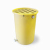 Agua Fria | Bright Yellow | 100 Gallon Vertical | Canale Flat Top (Polka Dot) - Tijeras Rain Barrels