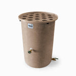 Agua Fria | Light Adobe With Speckle | 55 Gallon Vertical | Canale Flat Top (Polka Dot) - Tijeras Rain Barrels