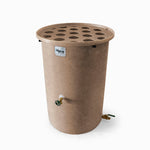 Agua Fria | Medium Adobe With Speckle | 200 Gallon Vertical | Canale Flat Top (Polka Dot) - Tijeras Rain Barrels
