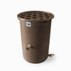 Agua Fria | Dark Adobe | 200 Gallon Vertical | Canale Flat Top (Polka Dot) - Tijeras Rain Barrels