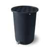 Cubo | Dark Grey | 100 Gallon Vertical | Polka Dot Top - Tijeras Rain Barrels