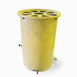 Agua Fria | Bright Yellow With Speckle | 200 Gallon Vertical | Canale Flat Top (Pie Shaped) - Tijeras Rain Barrels
