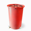 Agua Fria | Bright Red | 55 Gallon Vertical | Canale Flat Top (Pie Shaped) - Tijeras Rain Barrels