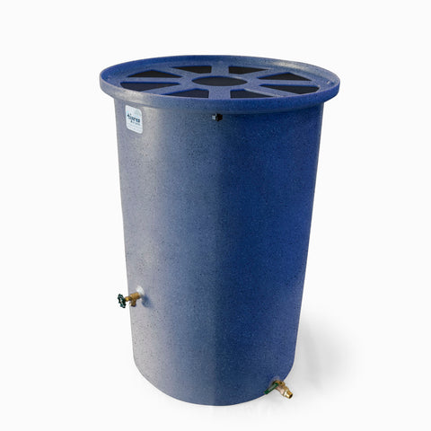 Agua Fria | Blueberry With Speckle | 200 Gallon Vertical | Canale Flat Top (Pie Shaped) - Tijeras Rain Barrels