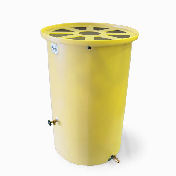 Cubo | Bright Yellow | 200 Gallon Vertical | Pie Shaped - Tijeras Rain Barrels
