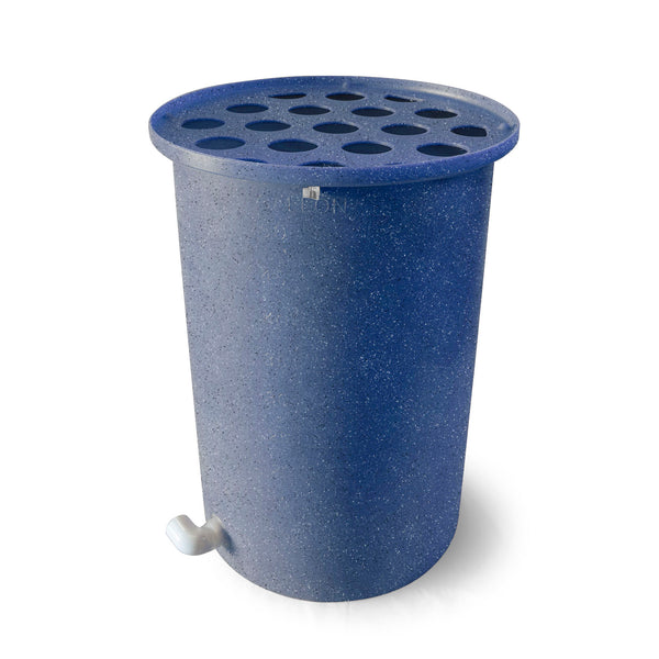 Cubo | Blueberry with Speckle | 200 Gallon Vertical  | Polka Dot Top - Tijeras Rain Barrels