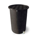Cubo | Black with Speckle | 100 Gallon Vertical | Polka Dot Top - Tijeras Rain Barrels