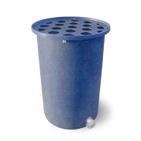 Cubo | Blueberry with Speckle | 55 Gallon Vertical | Polka Dot Top - Tijeras Rain Barrels