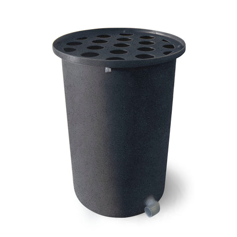 Cubo | Dark Grey with Speckle | 200 Gallon Vertical | Polka Dot Top - Tijeras Rain Barrels
