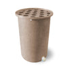 Cubo | Light Adobe with Speckle | 100 Gallon Vertical | Polka Dot Top - Tijeras Rain Barrels